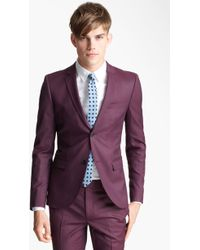 Topman Liquid Extra Trim Blazer purple - Lyst