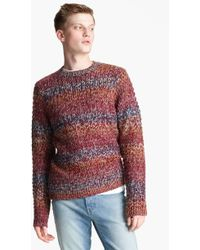 Topman Ombré Knit Crewneck Sweater purple - Lyst