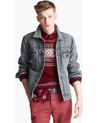 Topman Dyder Denim Jacket gray - Lyst