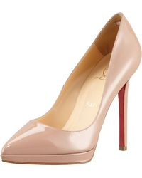 Christian Louboutin Pigalle Patent Platform Red Sole Pump - Lyst