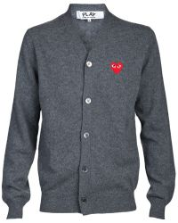 Comme des Garçons Top Dyed Sweater gray - Lyst