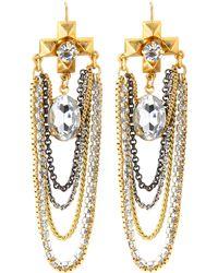Juicy Couture - Swing Chain Chandelier Earrings - Lyst
