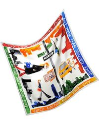 Juicy Couture - Ny Silk Square Scarf - Lyst