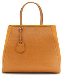 Fendi 2Jours Large Leather Tote - Lyst