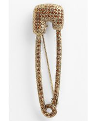 Tasha Safety Pin Brooch - Lyst