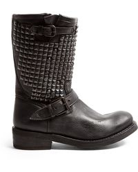 Ash Trash Studded High Biker Boots - Lyst