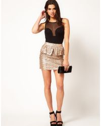 ASOS Collection  Sequin Skirt with Peplum - Lyst