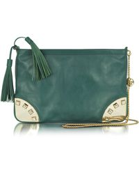Patrizia Pepe - Leather and Brass Shoulder Bag - Lyst