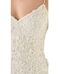 Theia Sleeveless Petal Gown - Lyst