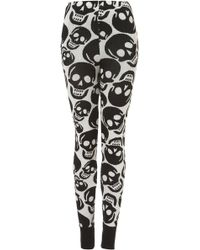 Topshop Smiley Skull Knit Leggings - Lyst