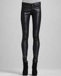 Ag Adriano Goldschmied Fauxleather Leggings Black - Lyst