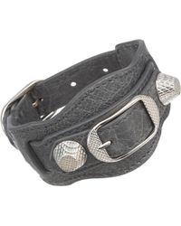Balenciaga Arena Giant Nickel Bracelet - Lyst