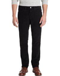 Barneys New York Slim Leg Corduroy Trousers - Lyst