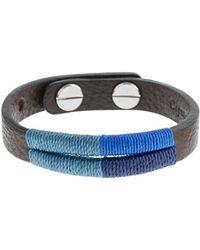 J.Crew Caputo Co Colorblock Handstitched Bracelet blue - Lyst