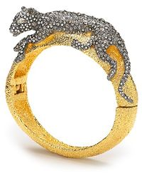 Alexis - Bittar Siyabona Sunset Gold Medium Panther Hinge Bracelet - Lyst