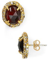 Alexis - Bittar Siyabona Sunset Gold Synthetic Ruby Post Earrings - Lyst