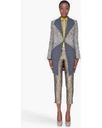 Matthew Williamson - Grey Tweed Panel Coat - Lyst