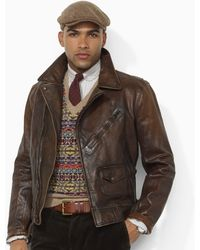 Shop Men's Polo Ralph Lauren Leather Jackets from $221 | Lyst