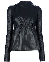 Rick Owens Cinched Waist Jacket - Lyst