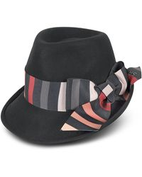 Sonia Rykiel - Striped Bow Wool Hat - Lyst