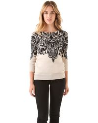 Twelfth Street Cynthia Vincent - Feather Print Sweater - Lyst