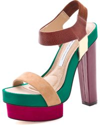 Diane von Furstenberg Toy Colorblock Sandals - Lyst