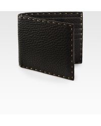 Fendi Selleria Basic Leather Wallet brown - Lyst