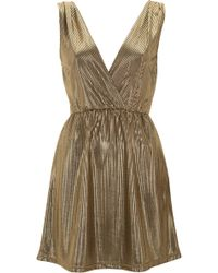 Topshop Short Wrap Dress By Oh My Love - Lyst