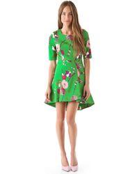 Twenty8Twelve Casey Capote Print Dress green - Lyst