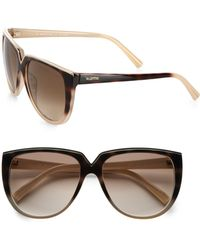 Valentino Retro Round Acetate Sunglasses - Lyst