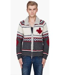 DSquared²  Combo Wool Knit Sweater red - Lyst