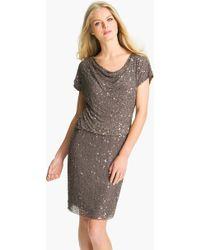 Pisarro Nights Cowl Neck Embellished Silk Dress - Lyst