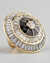 Rachel Zoe - Crystal Circle Ring - Lyst