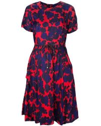 Marc By Marc Jacobs Floral Print Waistbelt Dress - Lyst