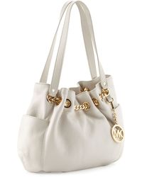 MICHAEL Michael Kors Jet Set Medium Gathered Lacechain Tote - Lyst
