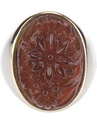 Nina Ricci - Glass Rose Ring - Lyst