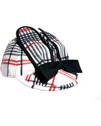 Peter Jensen - Rabbit Ear Check Hat - Lyst
