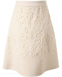 Stella McCartney Baroque Embossed Neoprene Skirt - Lyst