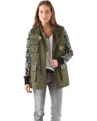 April, May - Milisa Military Knit Jacket - Lyst