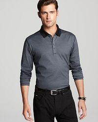 Boss Black Prato Thin Stripe Long Sleeve Polo - Lyst