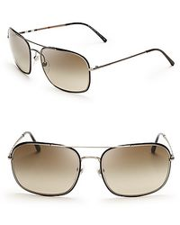 Burberry Navigator Wire Frame Sunglasses - Lyst