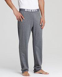 Diesel Gray Lounge Pants - Lyst