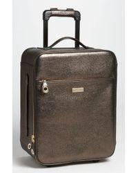 Jimmy Choo Regan Glitter Trolley Luggage - Lyst