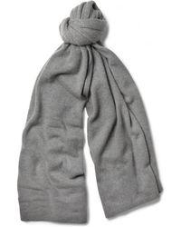 The Elder Statesman Cashmere Blanket Scarf gray - Lyst