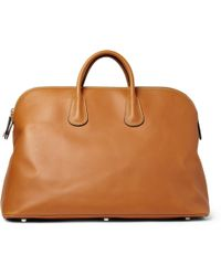 Valextra Leather Holdall Bag - Lyst