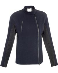3.1 Phillip Lim Fencing Midnight Woolcrepe Jacket blue - Lyst