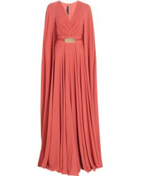 Elie Saab Long Cap Detail Gown - Lyst