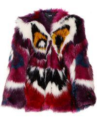 Meadham Kirchhoff Perri Monster Faux Fur Coat multicolor - Lyst