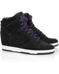 Nike Dunk Sky Hi Suede Wedge Sneakers - Lyst