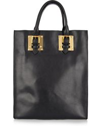 Sophie Hulme Buckle Leather Tote blue - Lyst